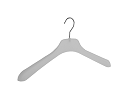 Frosted clothing hangers