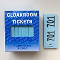 Cloakroom tickets